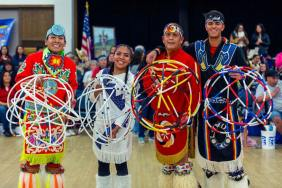BYU PowWow contest - Winning Order: Patrick Willie, Terry Goedel, Michael Goedel