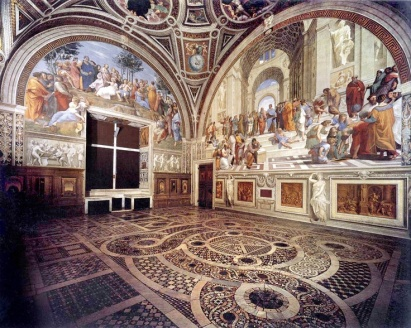 Stanza della Segnatura, Papal Palace, Vatican. Google Images.